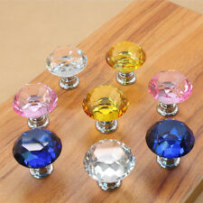 Sparkly Diamond Crystal Cabinet Wordrobe Dresser Drawer Knobs Handle Colorful