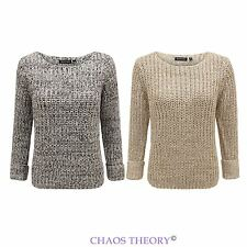 Brave Soul Womens Ladies Cable Knitted Winter Crop Jumper Sweater Pullover Top