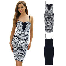Sexy Sleeveless Paisley Mini Bodycon Dress Casual Summer Evening Party Clubwear