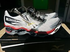 Mizuno Wave Prophecy 2 Silver Red White New In Box Various Sizes