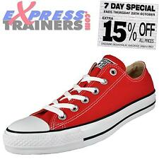 Converse Men All Star Lo Chuck Taylor Senior Trainers Red * Authentic *