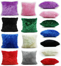 LARGE super soft faux fur cushions + covers or covers only in 4 lovely colours