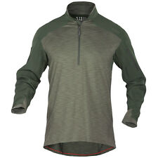 5.11 Tactical Rapid Response Quarter Zip Mens Army Shirt Hunting Ubacs Tdu Green
