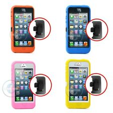 HARD ANTI SHOCK MUSCLE BOX CASE BELT CLIP ON HOLSTER FOR APPLE IPHONE 5 5S NEW