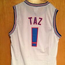 Taz #! Tazmanian Devil Space Jam Tune Squad Basketball Jersey White S M L XL XXL