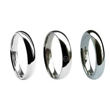 5mm 9ct White Gold Wedding Rings Court Comfort Bands UK HM Med Heavy X Heavy H-Z