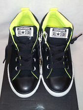 Converse All Star Chuck Taylor Street Mid Black/Neon Junior's  Sneakers- Size 12