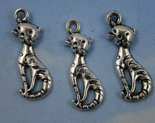 Lot 30/90pcs Retro Style lovely cat charms Pendants 25x9mm