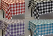 Square Gingham Polyester Tablecloth (over locked using quality cotton thread)