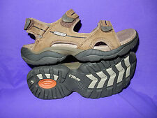 TEVA Mens Sizes  8 or 14 Obern Full Grain Leather Sport Sandal CHARRED  New!!