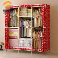 Bed Room Wardrobe Clothes Rack With Shelves Portable Closet Storage Organizer