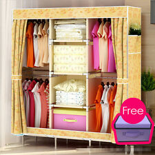 2015 Colors Soft Storage Cloth Foldable Hanging Shelf Wardrobe Cabinet Armoire