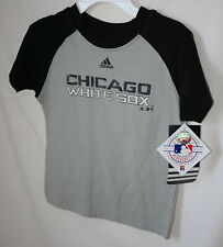 """CHICAGO WHITE SOX KID'S """"ADIDAS"""" GRAY and  BLACK  TEE SHIRT  NWT LICENSED"""