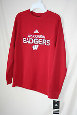 """WISCONSIN BADGERS  """"ADIDAS""""  YOUTH THERMAL STYLE LONG SLEEVE SHIRT -  LICENSED"""