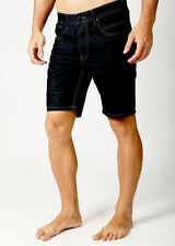 Mens Deacon DARK DENIM Chino short Length Festival Roll up shorts Fashion Casual