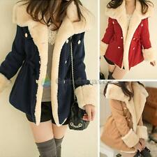 Fashion Autumn Winter Slim New Warm Double-breasted Wool Jacket Womens Girl Coat