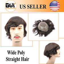 GEX Mens Toupee HairPiece Fine Mono+Wide PU Apollo Wig Replacement Systems