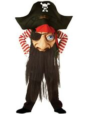 Child Pirate Captain Mad Hatter Halloween Outfit Fancy Dress Costume