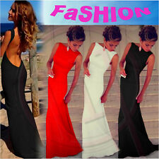 Women Sexy Backless Bodycon Bandage Wedding Party Prom Long Maxi Evening Dress