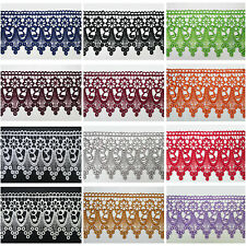 """3"""" White Black Ivory Burgundy 12 Colors Floral Venice Lace Trim Guipure By Yard"""