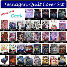 Awesome Cool Teenagers Teens Quilt / Duvet / Doona Cover Set SINGLE DOUBLE QUEEN