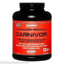 MUSCLEMEDS CARNIVOR (4 LB) beef protein isolate powder w/ creatine ALL FLAVORS