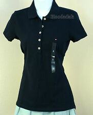 NWT Tommy Hilfiger Women's Polo Shirt Short Sleeve / Navy / S, M