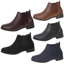 New Womens Ladies Low Heel Flat Pull On Chelsea Pixie Riding Ankle Shoe Boots