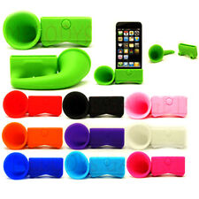 For Apple iPhone 5 Portable Silicone Horn Stand Audio Dock Amplifier Speaker