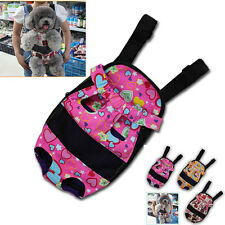 NEW Pet Dog Puppy Canvas Front Carrier Bag Safe Backpack  Travel Carry Tote Bag