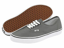 VANS AUTHENTIC PEWTER BLACK GRAY GREY MEN WOMEN FREE SHIPPING IN USA