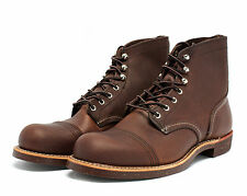 "Red Wing Heritage Men's Boots Iron Ranger 6"" Inch 8111 Amber Leather Brown"