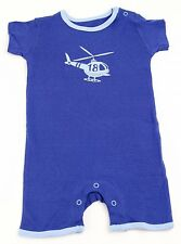 Baby Body suit Lupilu blue Helicopter Romper Short sleeved Body Boys Cotton