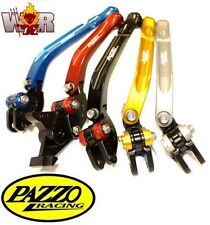 KAWASAKI ZX6R ZX6RR 00-04 PAZZO RACING FOLDING LeverSet ANY Color & Length Combo