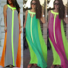 Sexy Sleeveless Boho Long Maxi Evening Party Cocktail Summer Beach Dress Womens