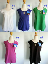 *Patagonia Women Versatili Tee Top Stretchy Organic Cotton Keyhole Tank XS S XL