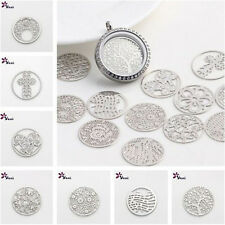 Pick New 22mm silver discs Round for Glass Living Memory Locket Floating Charm