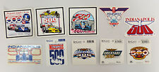 INDIANAPOLIS 500 STICKERS STICKER BRICKYARD 400 RACECAR RACING INDY MOTRO DECAL