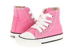 Girl's Toddler Converse 7J234 Chuck Taylor All Star HI Canvas Sneaker Pink New