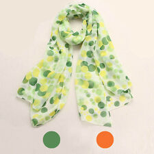 Women Girls Chiffon Dots Long Soft Neck Scarf Shawl Scarves Stole Wraps Hot Sale