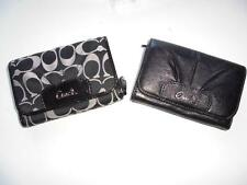 New Women's Coach Bi Fold Black Clutch/Wallet - Two Styles - NWT $188