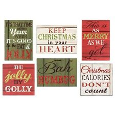 HEADLINES TIN CHRISTMAS THOUGHTS MAGNET- SAYINGS, SIGN , PLAQUE XMAS THEME
