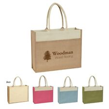 100 Jute Bags Personalized with your Custom Logo sold in bulk Item 3617