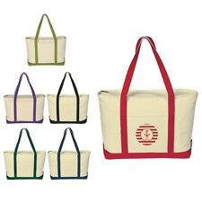 25 Large Canvas Beach Bags personalized with your custom logo in bulk Item 3235