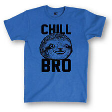 Chill Bro Sloth Funny Humor College Meme Relax Novelty Cool - Men's T-Shirt