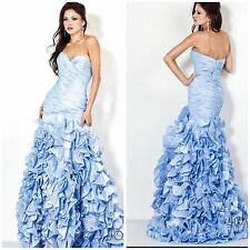 Jovani  7361Strapless sweetheart neckline gown features tiered top bodice$1278