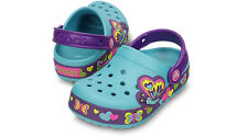 NEW Crocs CrocsLights Butterfly Clogs Girls Shoes SZ 8 9 10 11 12 13 1 2 3