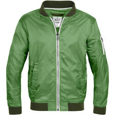 Brandit Portland Classic Mens Sport Jacket Light Zipped Sweat Retro Coat Green