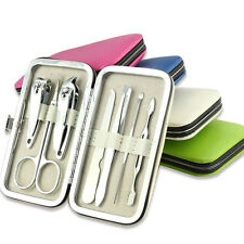 Color Pedicure Manicure Set Portable Nail Clippers Cleaner Cuticle Grooming Kit