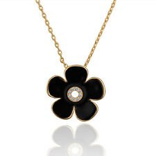 2 Colors 18K Yellow Gold GP Swarovski Crystal Flower Pendant Necklace YN619-20